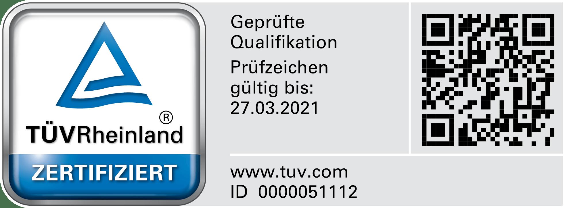 TÜV-Rheinland zertifizierung nach DIN 17024